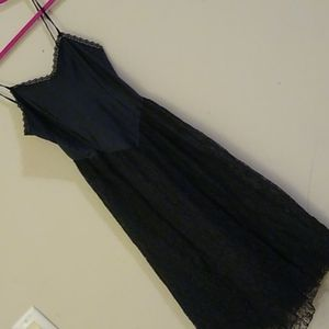 Vintage Union Made lace slip dress *flawed*